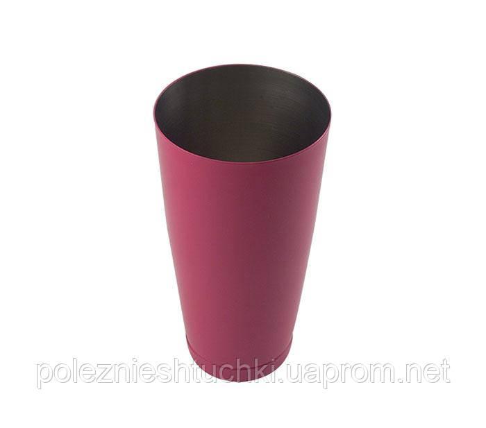 Шейкер 840 мл, сталь 18/10 цвет фуксия