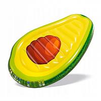 Надувной матрас intex 168х104х20см. Плот для плаванья матрас авокадо
