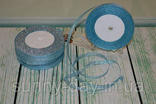 Лента парчовая, 6мм (22метра), цвет - нежно голубой