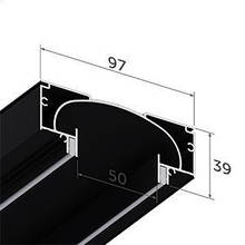 Профіль алюмінієвий для натяжних стель - світлові лінії SLOTT ніша