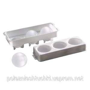 Форма для льда (3 шара 100 мл, Ø-55 мм), 235х85 мм, h-65 мм APS 12990