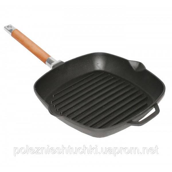 Сковорода-гриль чугунная 24 см. квадратная Winco