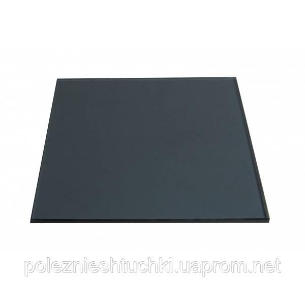 Вставка стеклянная 30х30х0,8 черно-матовая