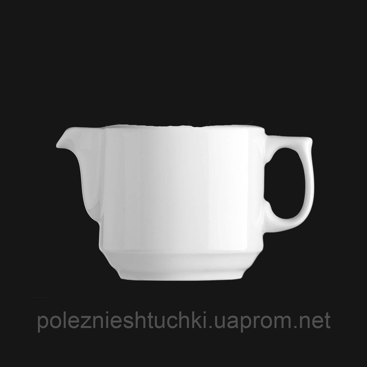 Чайник заварочный фарфоровый 750 мл. без крышки, белый Praha, G.Benedikt