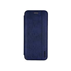 Чехол книжка для Huawei Y6P боковой из натуральной кожи, Gelius, Синий