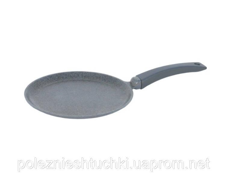 Сковорода Биол Granite Gray блинная с индукционным дном антипригарная 24х2 см. алюминиевая (24084І)