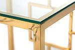 Стіл кавовий CL-2 скляний, прозорий метал хром, золото, фото 9