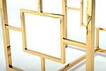 Стол кофейный CL-2 стеклянный, прозрачный металл хром, золото, фото 6