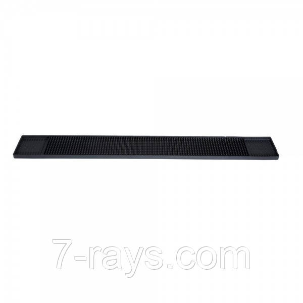 Коврик барный резиновый 60х8 см. черный Winco