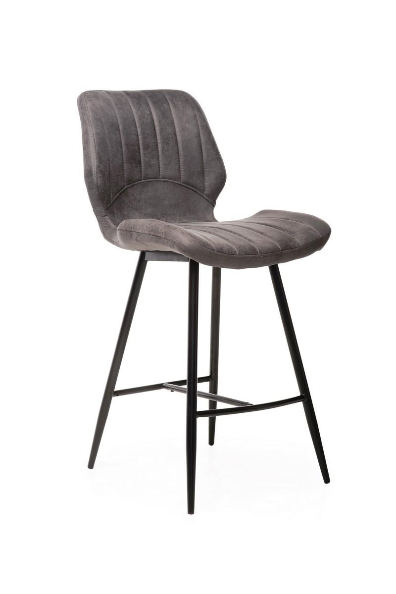 Барный стул В-19 (Серый, Нубук)