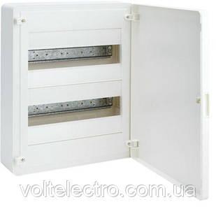 Щит 24 модуля, открытой установки, белая дверь Golf Hager VS212PD