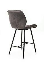 Барный стул В-19 (Серый, Нубук), фото 3