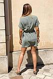 Легкое летнее платье для девушек на пуговицах по всей длине р.42-44, 46-48 код 803L, фото 8