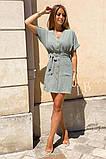 Легкое летнее платье для девушек на пуговицах по всей длине р.42-44, 46-48 код 803L, фото 6