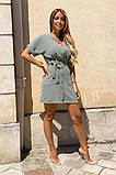 Легкое летнее платье для девушек на пуговицах по всей длине р.42-44, 46-48 код 803L, фото 5
