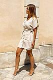 Легкое летнее платье для девушек на пуговицах по всей длине р.42-44, 46-48 код 803L, фото 3
