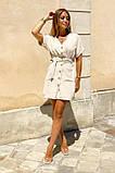 Легкое летнее платье для девушек на пуговицах по всей длине р.42-44, 46-48 код 803L, фото 2
