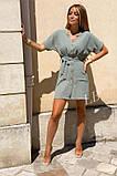 Легкое летнее платье для девушек на пуговицах по всей длине р.42-44, 46-48 код 803L, фото 7