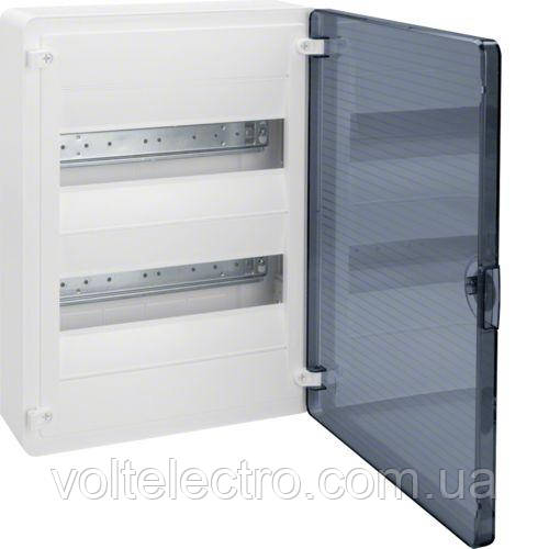 Щит 24 модуля, открытой установки, прозрачная дверь Golf Hager VS212TD