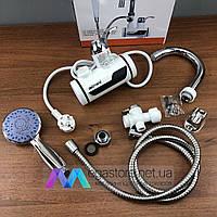 Проточный кран водонагреватель с душем Delimano электрический для квартиры делимано электроводонагреватель
