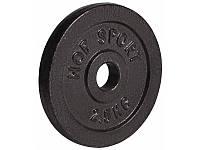 Диск металлический 2,5кг Hop-Sport блин для штанги и гантелей с посадочным диаметром D: 31 мм