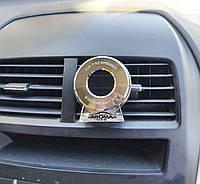 Ароматизатор автомобильный гелевый Aroma Black Jack. Пахучка для авто на решетку вентиляции, на диффузор