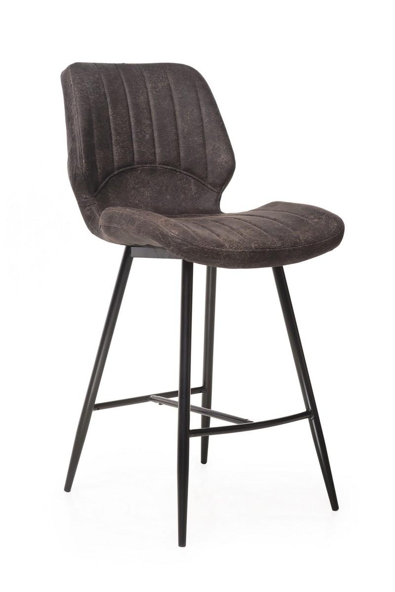 Барный стул В-19 (Коричневый, Нубук)