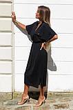 Удлиненное платье-рубашка летнее ровного кроя на пуговицах, разные цвета р.42-44,46-48 код 802L, фото 2