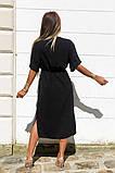 Удлиненное платье-рубашка летнее ровного кроя на пуговицах, разные цвета р.42-44,46-48 код 802L, фото 5