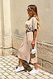 Удлиненное платье-рубашка летнее ровного кроя на пуговицах, разные цвета р.42-44,46-48 код 802L, фото 8