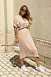 Удлиненное платье-рубашка летнее ровного кроя на пуговицах, разные цвета р.42-44,46-48 код 802L, фото 9