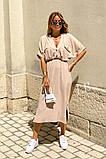 Удлиненное платье-рубашка летнее ровного кроя на пуговицах, разные цвета р.42-44,46-48 код 802L, фото 7