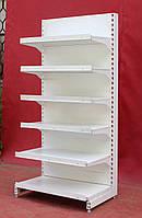 Торговые пристенные (односторонние) стеллажи «Росс» 200х92 см. (Украина), на 6 полок, Б/у, фото 1