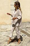 Костюм женский летний двойка брюки+блуза, разные цвета р.42-44,46-48 Код 801L, фото 8