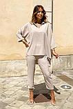 Костюм женский летний двойка брюки+блуза, разные цвета р.42-44,46-48 Код 801L, фото 7