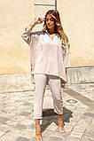 Костюм женский летний двойка брюки+блуза, разные цвета р.42-44,46-48 Код 801L, фото 5