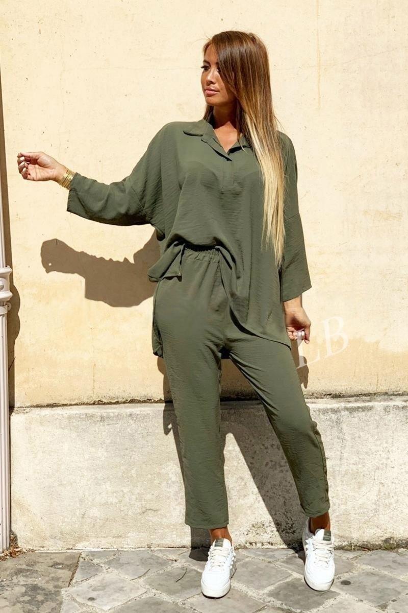 Костюм женский летний двойка брюки+блуза, разные цвета р.42-44,46-48 Код 801L