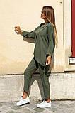 Костюм женский летний двойка брюки+блуза, разные цвета р.42-44,46-48 Код 801L, фото 3