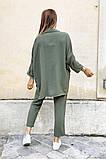 Костюм женский летний двойка брюки+блуза, разные цвета р.42-44,46-48 Код 801L, фото 4