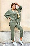 Костюм женский летний двойка брюки+блуза, разные цвета р.42-44,46-48 Код 801L, фото 2