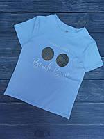 """Подростковая футболка для девочки""""Beach Bum""""8-12лет,белого цвета"""