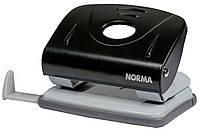 Дырокол для бумаги с линейкой NORMA 4345 8 см 20 л черный
