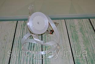 Лента атласная, 15мм (22метра), цвет - белый