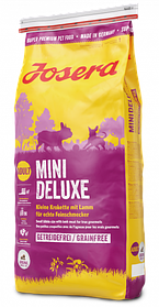 Josera MiniDeluxe 0,9кг - беззерновой корм с ягненком для взрослых собак мелких пород