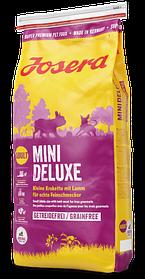 Josera MiniDeluxe 15кг - беззерновой корм с ягненком для взрослых собак мелких пород