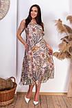 Нарядное летнее платье с открытыми плечами из натуральной ткани на подкладке больших размеров 50,52,54,56, фото 2