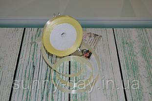 Лента атласная, 15мм (22метра), цвет - айвори