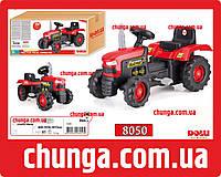 Трактор педальный детский веломобиль на педалях красный DOLU 8050, фото 1