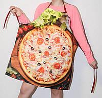 Фартуки фартух прикольные на кухню 3Д рогожка лен пицца