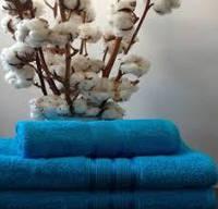 Махровое полотенце 70х140, 100% хлопок 420 гр/м2, Пакистан, Аква